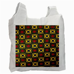 African Textiles Patterns Recycle Bag (two Side)