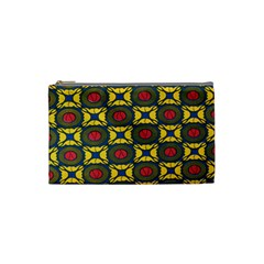 African Textiles Patterns Cosmetic Bag (small)