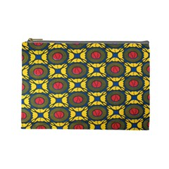 African Textiles Patterns Cosmetic Bag (large)