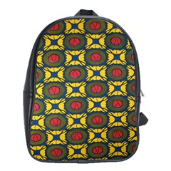 African Textiles Patterns School Bag (large)