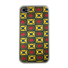 African Textiles Patterns Apple Iphone 4 Case (clear)