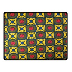 African Textiles Patterns Double Sided Fleece Blanket (small)