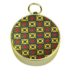 African Textiles Patterns Gold Compasses