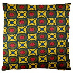 African Textiles Patterns Large Flano Cushion Case (two Sides)