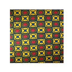 African Textiles Patterns Small Satin Scarf (square)