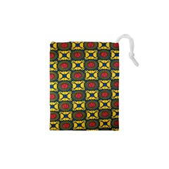 African Textiles Patterns Drawstring Pouches (xs)