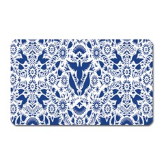 Birds Fish Flowers Floral Star Blue White Sexy Animals Beauty Magnet (rectangular)