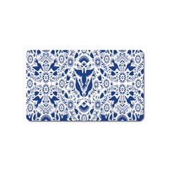 Birds Fish Flowers Floral Star Blue White Sexy Animals Beauty Magnet (name Card)