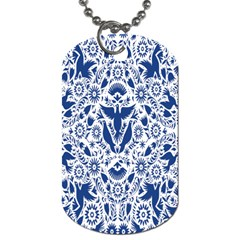 Birds Fish Flowers Floral Star Blue White Sexy Animals Beauty Dog Tag (two Sides)