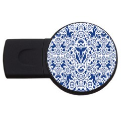 Birds Fish Flowers Floral Star Blue White Sexy Animals Beauty Usb Flash Drive Round (2 Gb)