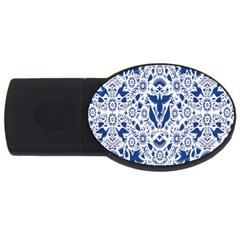 Birds Fish Flowers Floral Star Blue White Sexy Animals Beauty Usb Flash Drive Oval (2 Gb)
