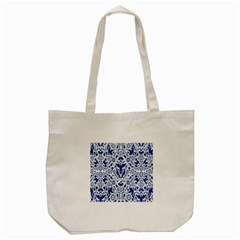 Birds Fish Flowers Floral Star Blue White Sexy Animals Beauty Tote Bag (cream)