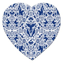 Birds Fish Flowers Floral Star Blue White Sexy Animals Beauty Jigsaw Puzzle (heart)