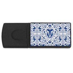 Birds Fish Flowers Floral Star Blue White Sexy Animals Beauty Rectangular Usb Flash Drive
