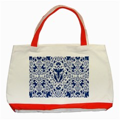 Birds Fish Flowers Floral Star Blue White Sexy Animals Beauty Classic Tote Bag (red)