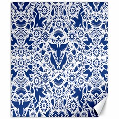 Birds Fish Flowers Floral Star Blue White Sexy Animals Beauty Canvas 8  X 10