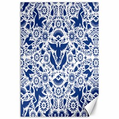 Birds Fish Flowers Floral Star Blue White Sexy Animals Beauty Canvas 12  X 18