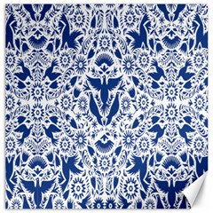 Birds Fish Flowers Floral Star Blue White Sexy Animals Beauty Canvas 20  X 20