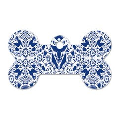 Birds Fish Flowers Floral Star Blue White Sexy Animals Beauty Dog Tag Bone (one Side)