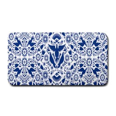 Birds Fish Flowers Floral Star Blue White Sexy Animals Beauty Medium Bar Mats