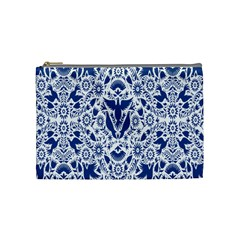 Birds Fish Flowers Floral Star Blue White Sexy Animals Beauty Cosmetic Bag (medium)
