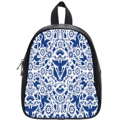 Birds Fish Flowers Floral Star Blue White Sexy Animals Beauty School Bag (small)