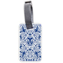 Birds Fish Flowers Floral Star Blue White Sexy Animals Beauty Luggage Tags (two Sides)