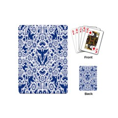 Birds Fish Flowers Floral Star Blue White Sexy Animals Beauty Playing Cards (mini)