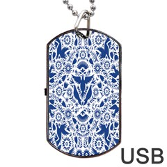 Birds Fish Flowers Floral Star Blue White Sexy Animals Beauty Dog Tag Usb Flash (one Side)
