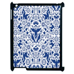 Birds Fish Flowers Floral Star Blue White Sexy Animals Beauty Apple Ipad 2 Case (black)
