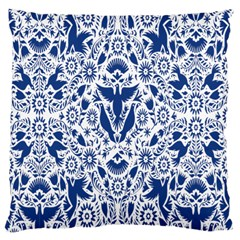 Birds Fish Flowers Floral Star Blue White Sexy Animals Beauty Large Cushion Case (two Sides)