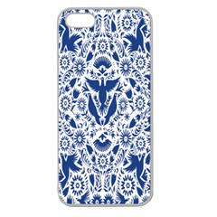 Birds Fish Flowers Floral Star Blue White Sexy Animals Beauty Apple Seamless Iphone 5 Case (clear)
