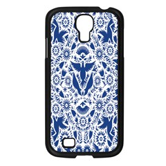 Birds Fish Flowers Floral Star Blue White Sexy Animals Beauty Samsung Galaxy S4 I9500/ I9505 Case (black)