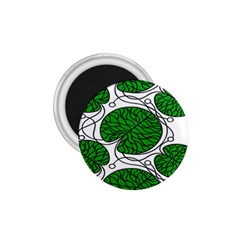 Bottna Fabric Leaf Green 1 75  Magnets