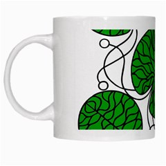 Bottna Fabric Leaf Green White Mugs