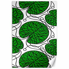 Bottna Fabric Leaf Green Canvas 24  X 36