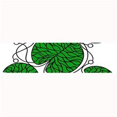 Bottna Fabric Leaf Green Large Bar Mats