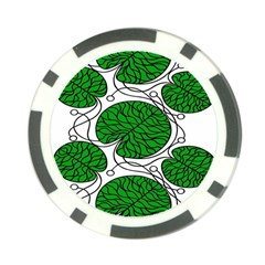 Bottna Fabric Leaf Green Poker Chip Card Guard