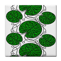 Bottna Fabric Leaf Green Face Towel