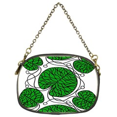 Bottna Fabric Leaf Green Chain Purses (two Sides)