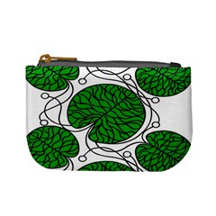 Bottna Fabric Leaf Green Mini Coin Purses