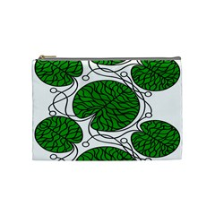 Bottna Fabric Leaf Green Cosmetic Bag (medium)
