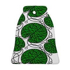 Bottna Fabric Leaf Green Ornament (bell)