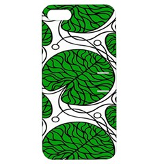 Bottna Fabric Leaf Green Apple Iphone 5 Hardshell Case With Stand