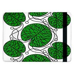 Bottna Fabric Leaf Green Samsung Galaxy Tab Pro 12 2  Flip Case