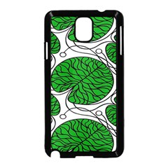 Bottna Fabric Leaf Green Samsung Galaxy Note 3 Neo Hardshell Case (black)
