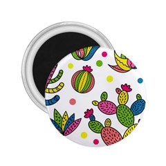 Cactus Seamless Pattern Background Polka Wave Rainbow 2 25  Magnets
