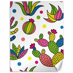 Cactus Seamless Pattern Background Polka Wave Rainbow Canvas 36  X 48