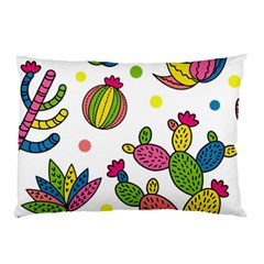Cactus Seamless Pattern Background Polka Wave Rainbow Pillow Case (two Sides)