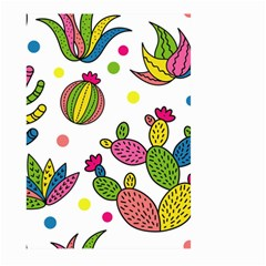Cactus Seamless Pattern Background Polka Wave Rainbow Large Garden Flag (two Sides)